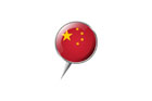 압정모양의 중국국기 템플릿