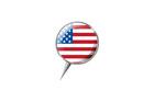 압정모양의 미국국기 템플릿