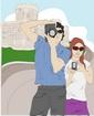 사진찍는 커플 템플릿