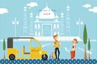 인도의 풍경 템플릿