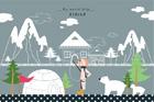 알래스카의 풍경 템플릿