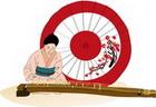 전통악기를 연주하는 사람 템플릿