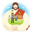 가족을안고있는예수님 템플릿