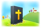 교회와성경책 템플릿