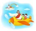 비행기탄예수님과아이들 템플릿
