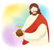 새싹과예수님 템플릿