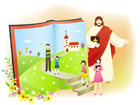 성경책과예수님 템플릿