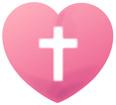 십자가가그려진하트 템플릿