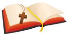 십자가와성경책 템플릿