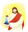 예수님과기도하는남자아이 템플릿