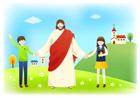 예수님과손잡고있는아이들 템플릿