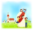 예수님과아이들 템플릿