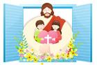 창문안의예수님과아이들 템플릿