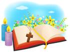 촛불과성경책 템플릿