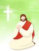 기도하는 예수님 템플릿