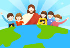예수님과 아이들 템플릿