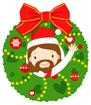 크리스마스리스속예수님 템플릿
