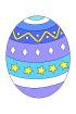 부활절보라색달걀 템플릿