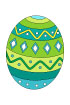 부활절초록색달걀 템플릿