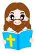 성경읽는예수님 템플릿