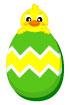 부활절달걀과병아리 템플릿