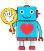 손바닥든 로봇 템플릿
