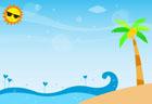 여름해변 글상자 일러스트/이미지