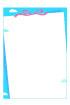하늘핑크색리본글상자 템플릿