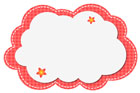 빨간색구름글상자 클립아트