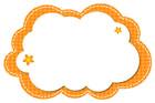 주황색구름글상자 클립아트