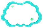 청록색구름글상자 일러스트/이미지