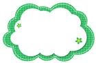 초록색구름글상자 클립아트