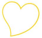 노란색하트글상자 템플릿