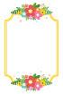 금색줄꽃글상자 템플릿