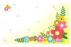 꽃배경글상자 템플릿