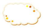 꽃구름형글상자 템플릿