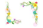 꽃테두리글상자 템플릿
