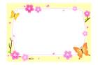 나비와꽃글상자 템플릿