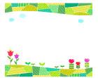 동산위꽃글상자 템플릿