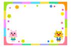 토끼와고양이 꽃글상자 템플릿