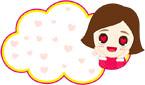 사랑에빠진여자와구름글상자 일러스트/이미지