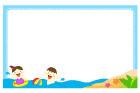 물놀이하는아이들글상자 템플릿