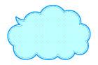 도트구름글상자 템플릿