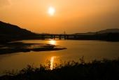 낙동강의 일몰 템플릿