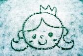 겨울눈위에공주얼굴 템플릿