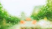 차유리에 빗방울 템플릿