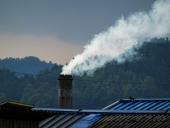 공장 굴뚝 연기 템플릿
