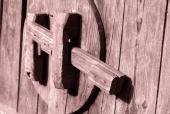 나무로된 문고리 템플릿