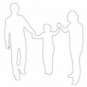 가족 실루엣 템플릿