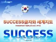 success글자와 세계지도 템플릿